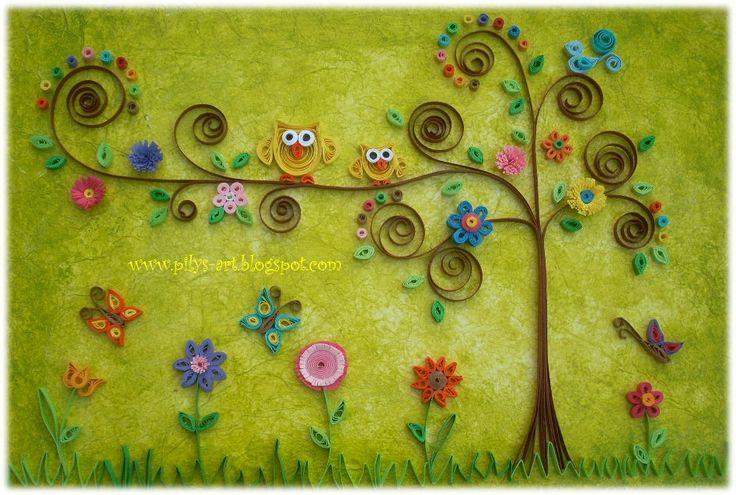 Quilling Owls by Pilys-art.deviantart.com on @deviantART