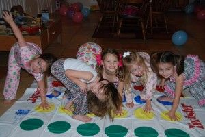 PJ Night Activities: Everyone loves Twister! #pjnight