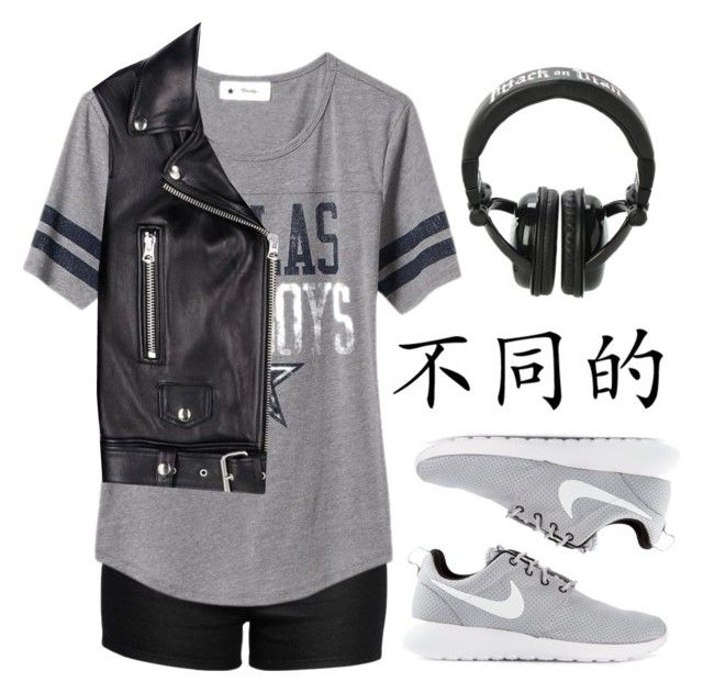"""""""kL"""" by songjieun ❤ liked on Polyvore featuring Love Moschino, Old Navy, Acne Studios and NIKE"""