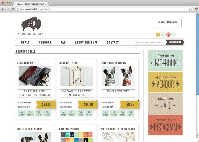 Brickyard Buffalo Website design by October Ink