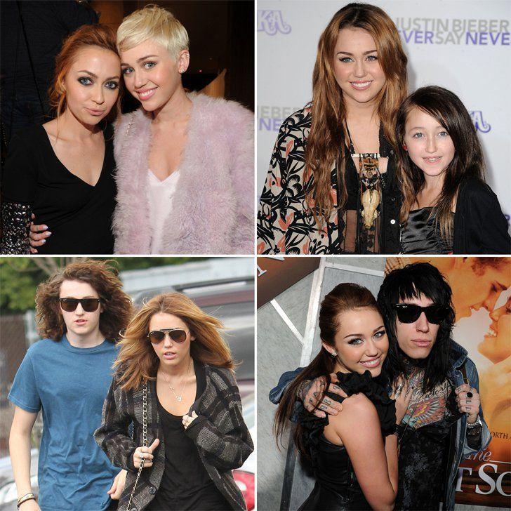 Pin for Later: Vous Ne Saviez Probablement Pas Que Ces Célébrités Ont Des Frères et Soeurs Miley, Brandi, Braison, Noah, et Trace Cyrus