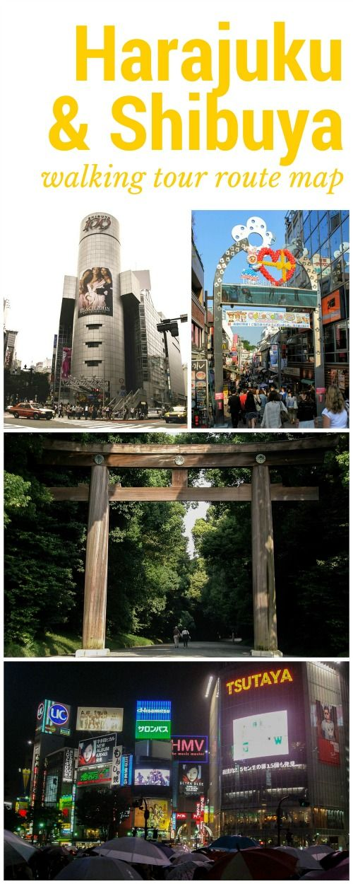 Walking tour of free attractions in Shibuya and Harajuku