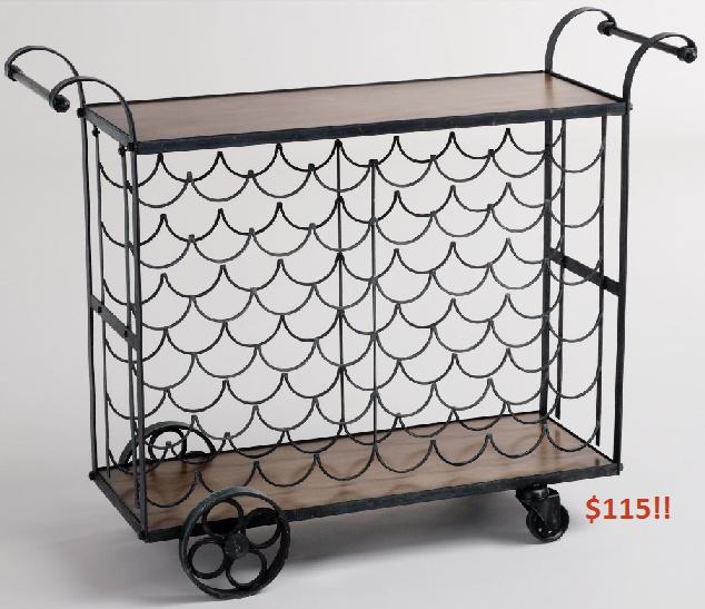 cheap bottle bar cart