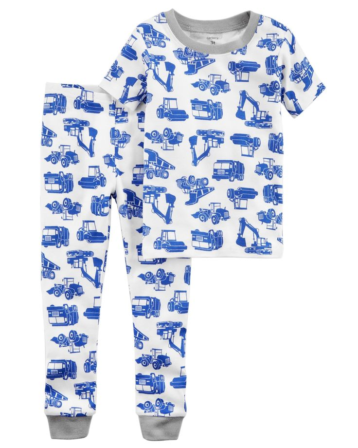 Kid Boy 2-Piece Truck Snug Fit Cotton PJs | Carters.com