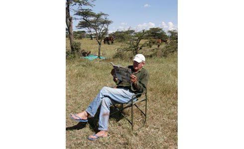 Tristian Voorspuy in the Maasai Mara