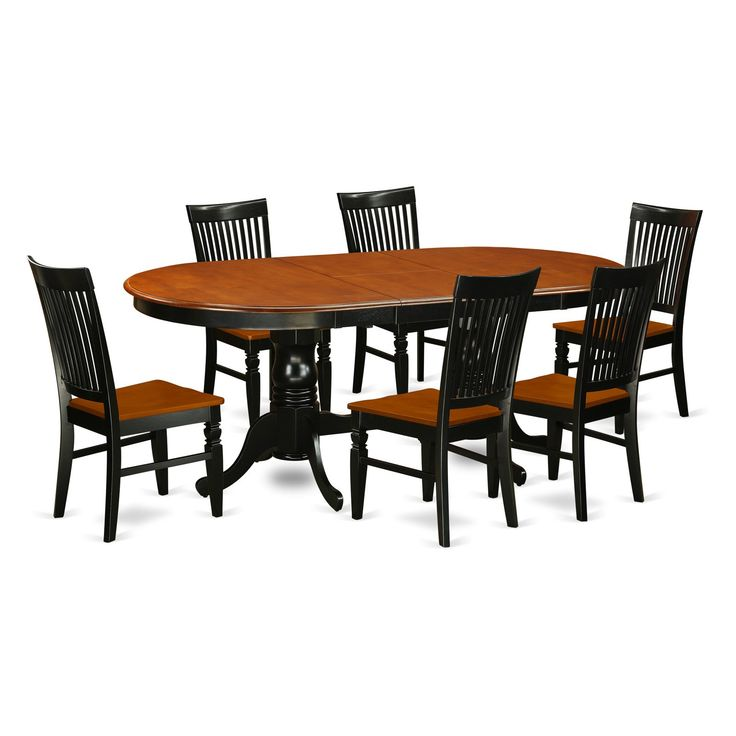 East West Furniture Niwe7 Bch W Nicoli 7 Piece Black And Cherry Nook Dining Set Kitchen Table Settings Solid Wood Dining Set