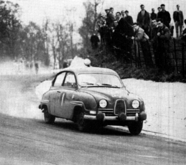 1961 RAC Rally: Erik Carlsson's 2nd of a hat-trick of wins in a Saab 96 GT