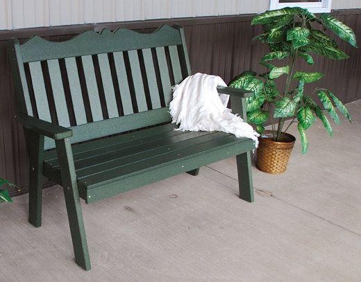 Poly muebles madera pie 4 real jardín inglés Banco de banco porche - cubierta - Patio - patio - césped - hecho a mano - Amish Made in USA