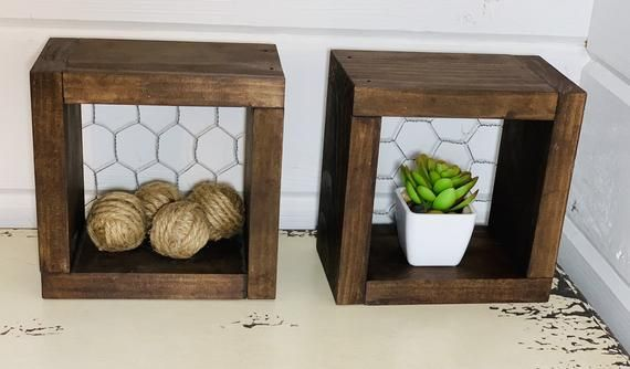 Mini Chicken Wire Shelves Set Modern Farmhouse Decor Small Etsy Small Decor Modern Farmhouse Decor Farmhouse Decor