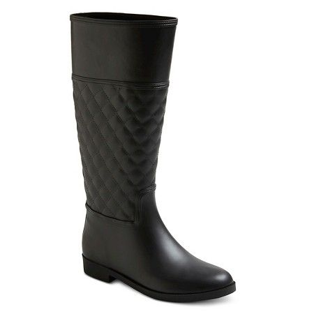 Women's Barbara Quilted Tall Rain Boots - Merona™ : Target