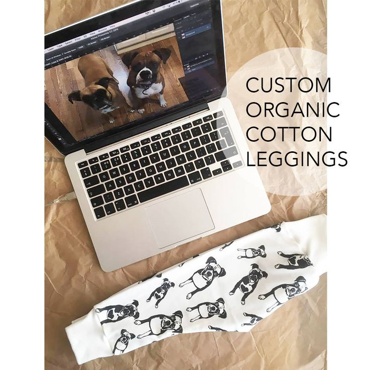 Personalised Organic Baby Leggings, Custom Dog And Baby Gift, Dog Baby Announcement, Baby Shower Gift, Organic Cotton Newborn Leggings by MONOFACESoCHILDREN on Etsy