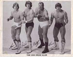 Von Erich Wrestling Family!! Kevin, David, Fritz (Father) & Kerry (future Texas Tornado)!!