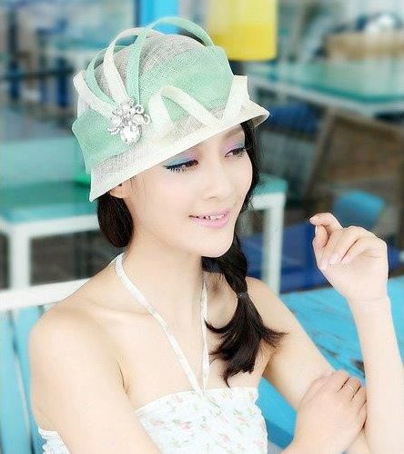 """""""Margot"""" Mint Green and White Fascinator Hat $89.95 includes FREE Shipping Australia Wide"""