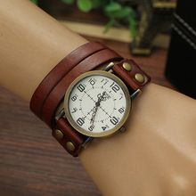 2016 New Punk Style Quartz Watches Women Personality Leather ...