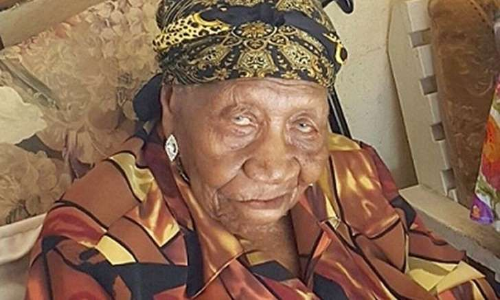 Jamaican Violet Brown who at 117 years of age is the world's oldest living person: Violet Brown was congratulated by Jamaica's prime minister.