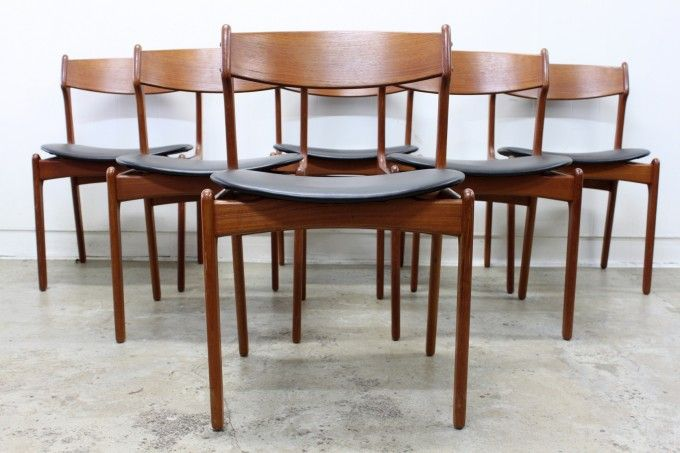 Erik Buch Teak Dining Chairs - The Vintage Shop