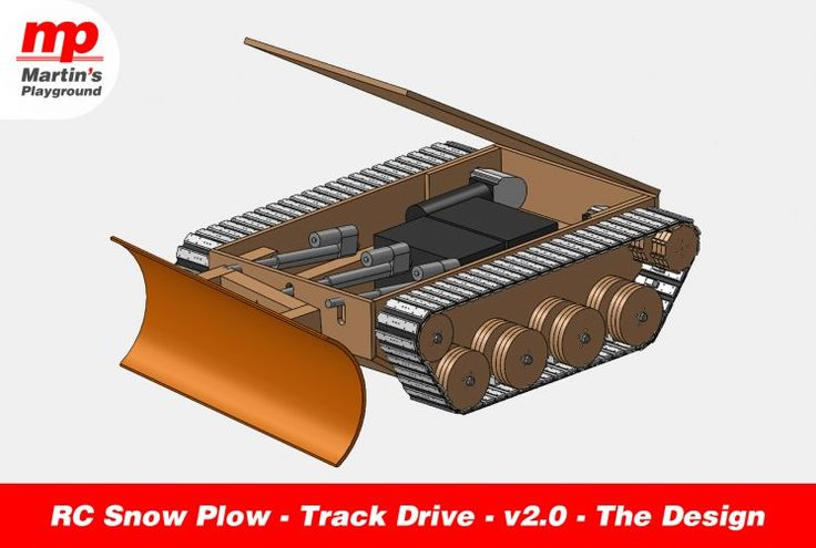 RC Snow Plow – Track Drive – v2.0 – The Design After my previous prototype of RC Snow Plow – 6×6 Wheel Drive – v1.0, I decided to simplify the design by using tracks instead of wheels. There is no chains or timing belts between the motors and the drive wheels. This...