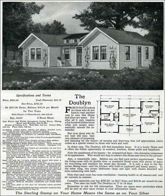 1916 Famous Fifty HomesThe Doublyn 394 best