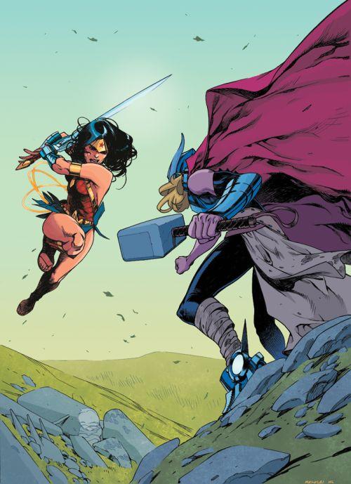 Wonder Woman vs Thor - Benagal, Colors: Chris O'Halloran