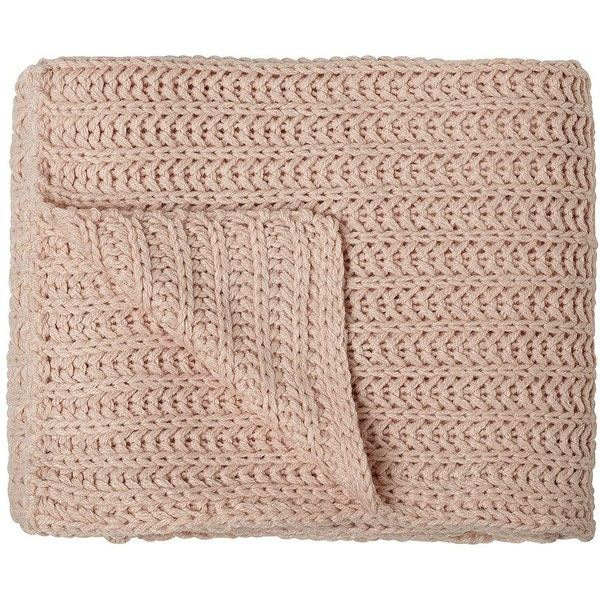 Chesterfield Pink Shell Tone Decorative Throw Blanket ($60) ❤ liked on Polyvore featuring home, bed & bath, bedding, blankets, fillers, accessories, misc, home textiles, pink throw and pink throw blanket