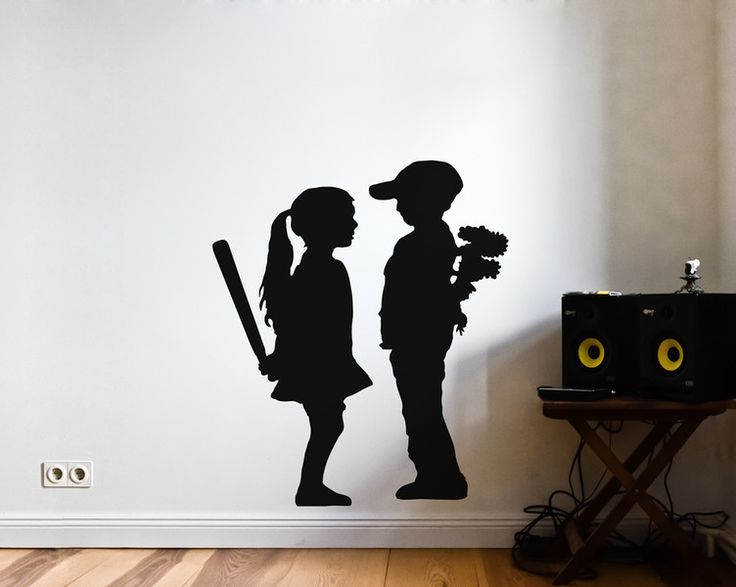 269 best images about uab wall art wandsticker on pinterest do more astronauts and laptop - Wandtattoo banksy ...