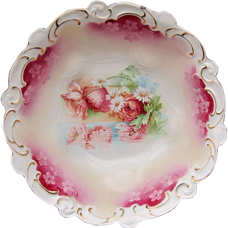 R.S. Prussia 10 ½\u201d Bowl w/ Reflecting Poppies \u0026 Red Trim. Poppy RedDecorative PlatesPrussiaFine ...  sc 1 st  Pinterest & 435 best DECORATIVE PLATES images on Pinterest | Decorative plates ...