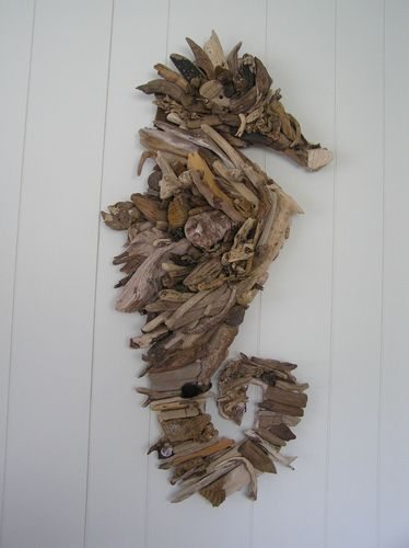 driftwood seahorse... would be nice with brass headed nails holding it together.