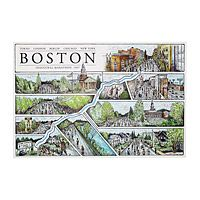 BOSTON MARATHON MAP|UncommonGoods