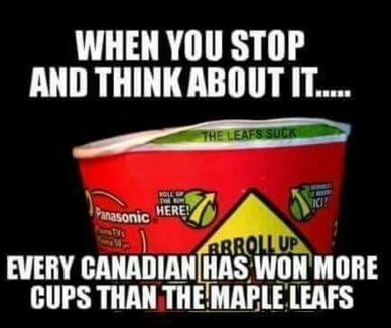 This season the Leafs are pretty good.