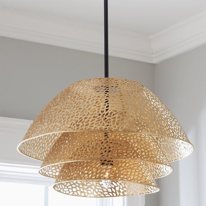 Stacked Gold Coral Mesh Pendant Gold Lantern Pendant Light Exterior Pendant Lights Gold Light Fixture