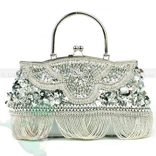picture of beaded purses | Wholesale Women Beaded Sequin Evening Clutch Purse - DinoDirect.com