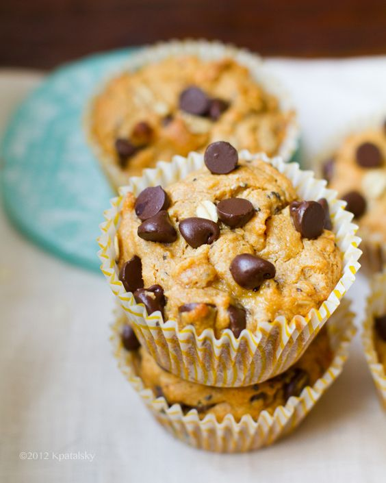 Peanut Butter Chocolate Chip Muffins. Vegan. - Healthy. Happy. Life.