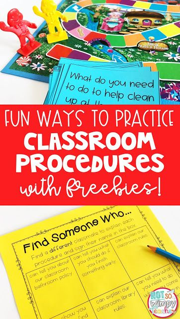 It's almost time for back to school! Classroom procedures are so important at the beginning of the school year! But practicing procedures. doesn't have to be boring. Check out these fun and free activities.