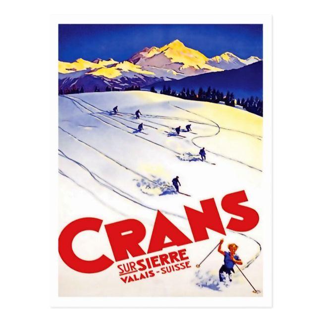 Ski Canada TRIPLE GELANDESPRUNG Vintage 1938 Skiing CP Travel POSTER Reprint