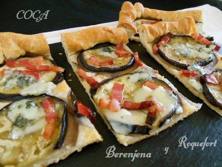 Cocinando en Mislares: COCA de BERENJENAS y ROQUEFORT