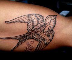 Swallow bird tattoos4356