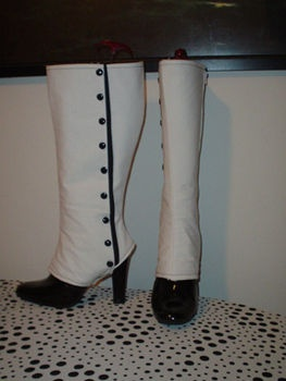 How to Boot Cover #2Sewing, Cosplay, Victorian Spats, Clothing, High Victorian, Black Boots, Boots Covers Diy, Knee Highs, Costumes Ideas