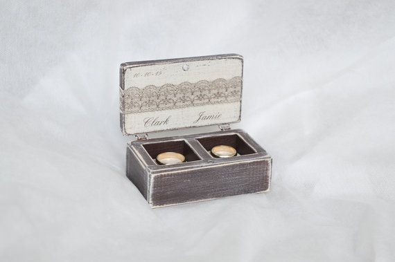 Ring Box Rustic Wedding Ring Box Ring Bearer by GregolinoWedding