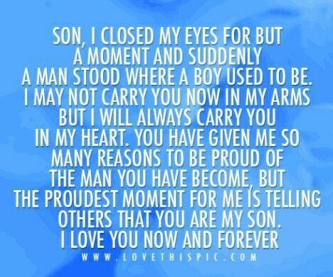 17+ Son Birthday Quotes on Pinterest | Mother birthday wishes ...