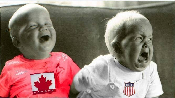 Team Canada beats Team USA 1-0 in semi finals mens hockey 2014 Sochi Olympics. We are going for gold!!