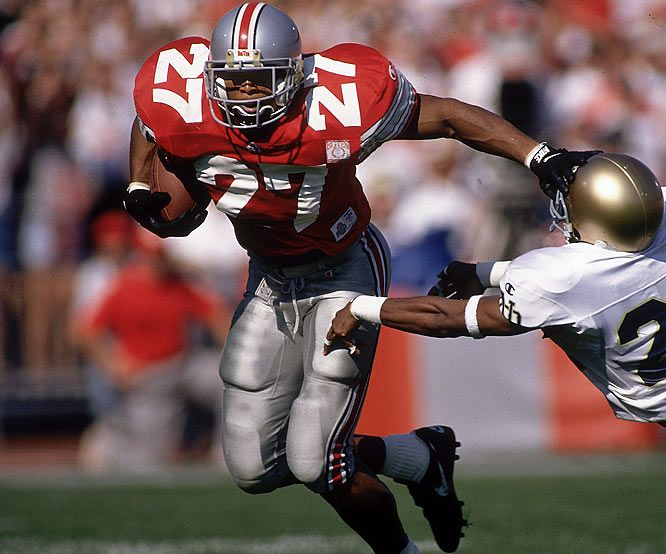 No. 27 - Eddie George, RB, Ohio State (1992-95)