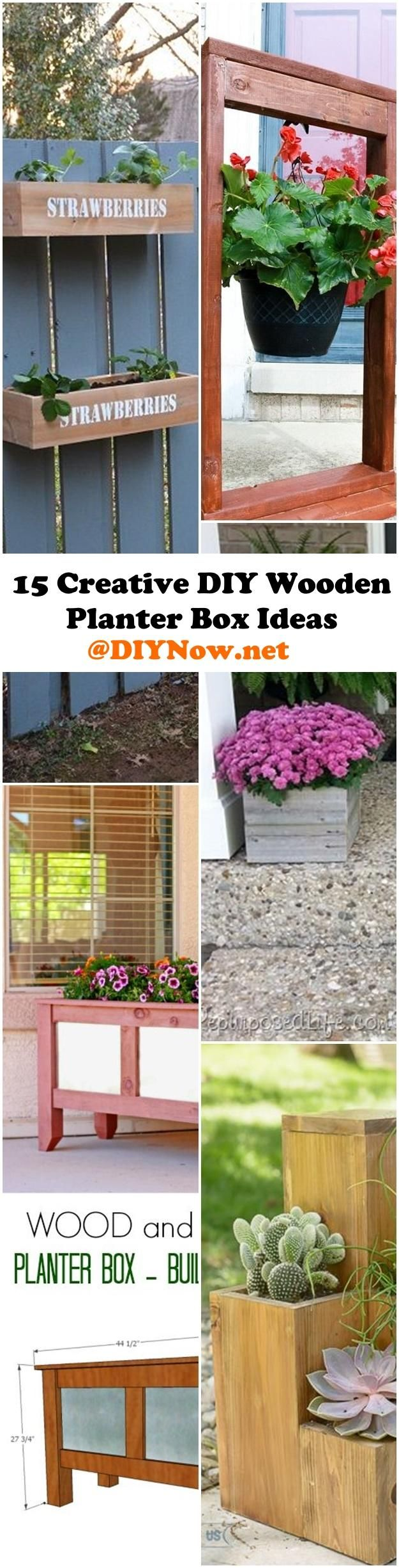 25 best ideas about Diy wooden planters