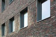 Neubau der Pensionskasse westdeutscher Genossenschaften VVaG in Münster: Architektursortierung aus Röben DF-Klinkern SHEFFIELD und NEWCASTLE im Verhältnis 90/10