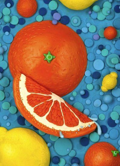 Clay Illustration-Oranges