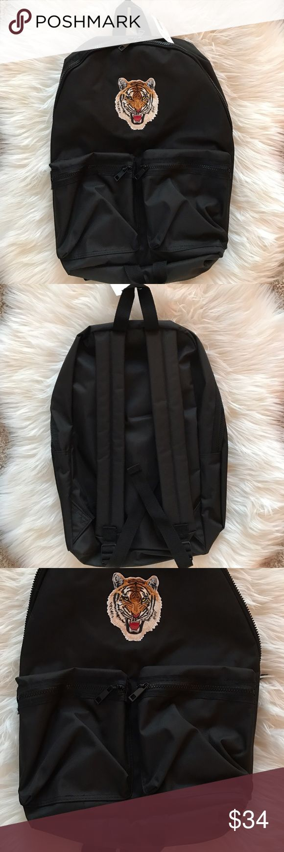 *NWT* Topman Backpack Stitched tiger graphic backpack from Topman. Brand new with tags! Topman Bags Backpacks