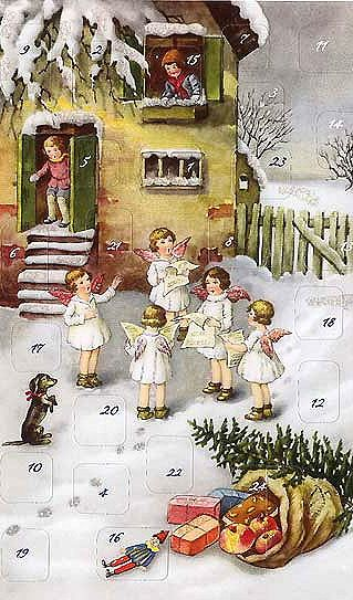 Old German Advent calendar Repinned by www.gorara.com                                                                                                                                                                                 More