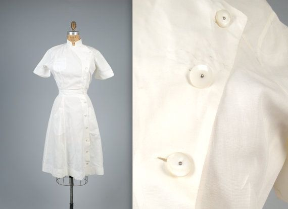 Vintage 1940s authentic nurse uniform with by MintageClothingCo