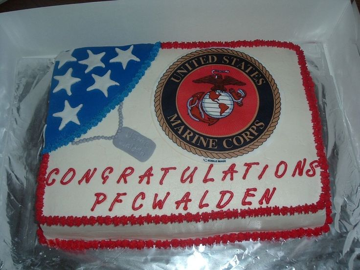 USMC PARTY FOOD | did this cake for a friends son graduating from boot camp. Dark ...