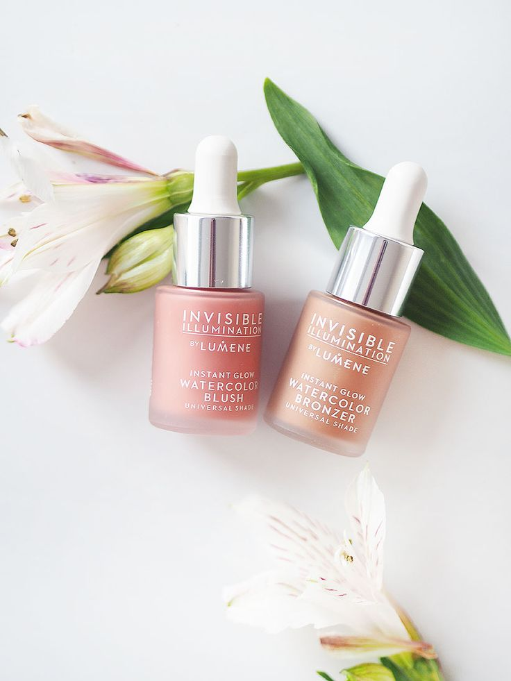 Few drops of Instant Glow Watercolor Blush and Bronzer are enough to give a fresh and sunny glow for your complexion. Photo by Magicpoks blogger Maj. #lumene