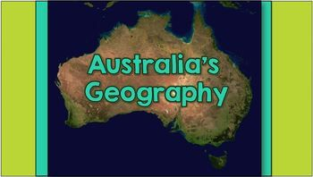 Australia's Geography - Interactive Notebook Notes & Activities